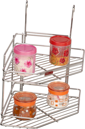 SS Corner Rack Double Tier